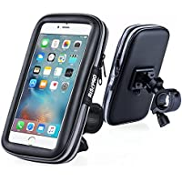 Bike Phone Mount, RISEPRO Waterproof Universal Case Bicycle & Motorcycle Mount Cradle Holder Dust Rain Snow Resistant for Smart Phone 5.7 iPhone 6 6S, 7, 7 plus