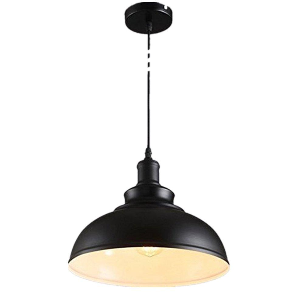 Pendant Light 1-Light Vintage Edison Pendant Lamp Metal Black Pendant Light Perfect for Kitchen Bar Counter Dining Room Restaurant