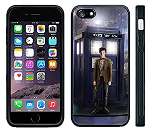 Apple iPhone 6 Black Rubber Silicone Case - Tardis #5 Call Box Dr. Who Phone Police Booth by supermalls