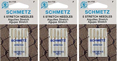 Stretch Machine Needles-Size 11/75 5/Pkg (3 Pack) ()