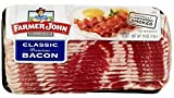 Farmer John Classic Premium Sliced Bacon 16oz. Package (Pack of 4) | Ship Frozen With Ice
