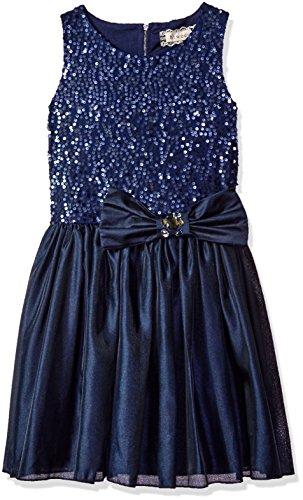 Satin Jeweled Dress - 2