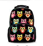 Laptop Backpack,Travel Computer Backpacks for Women & Men, Anti Theft Water Resistant College Student School Bookbag, Business Backpack Lovely Owl Heart