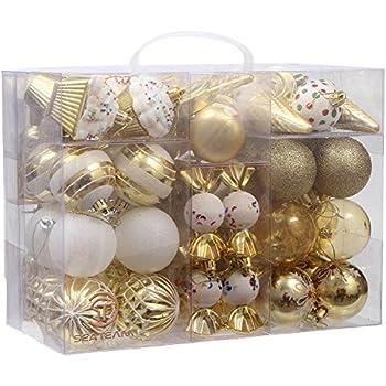 Amazoncom Sea Team 72Pack Assorted Shatterproof Christmas Balls