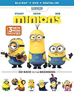 Cover Image for 'Minions (Blu-ray + DVD + DIGITAL HD)'