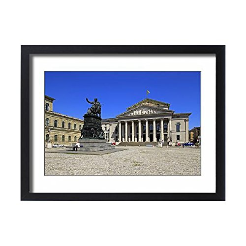 f National Theatre Munich on Max-Joseph-Platz Square, Munich (13599543) (Bavaria Square Print)