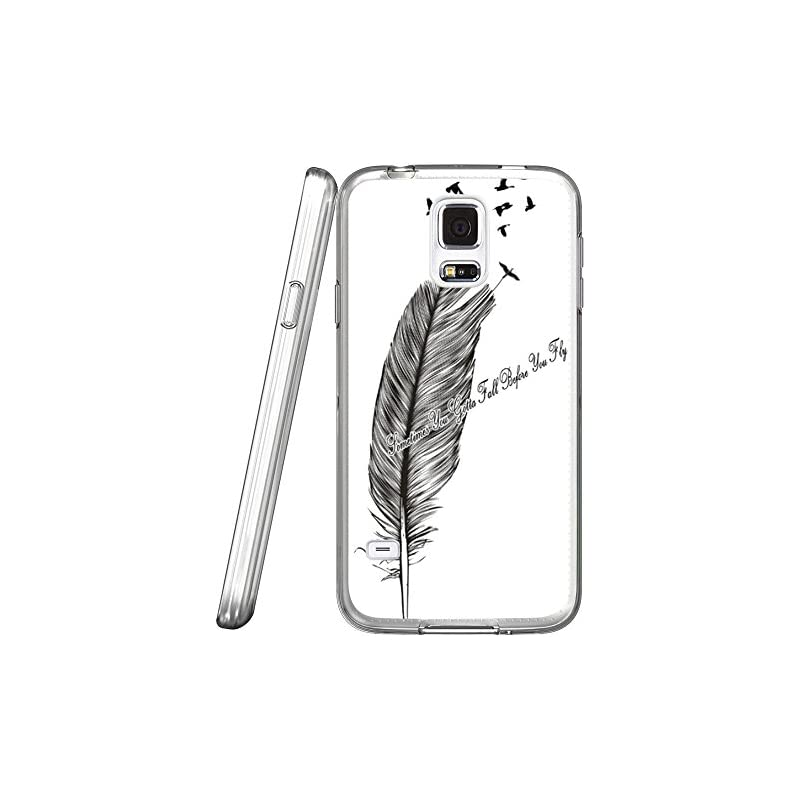 S5 Case Feather and birds flying, LAACO