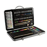 Mont Marte 90-Piece Premium Art Set, Wood Art Supplies for Painting and Drawing, Essentials Art Kit in Portable Aluminium Case, Includes Acrylic Paint, Oil Pastels, Color Pencils, Art Brushes