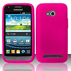For Samsung© Galaxy Victory 4G LTE L300 Silicone Skin Case Cover - Hot Pink