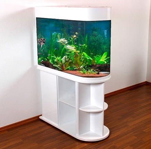 Raumteiler Aquarium U100 / Weiß Hochglanz