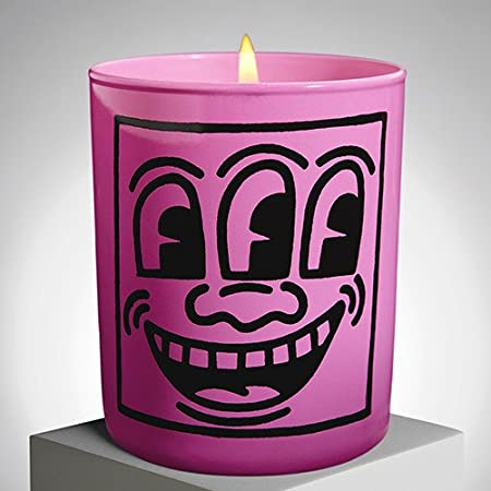 Pink Mask Perfumed Candle By Keith Haring Amazon Kitchen Home
