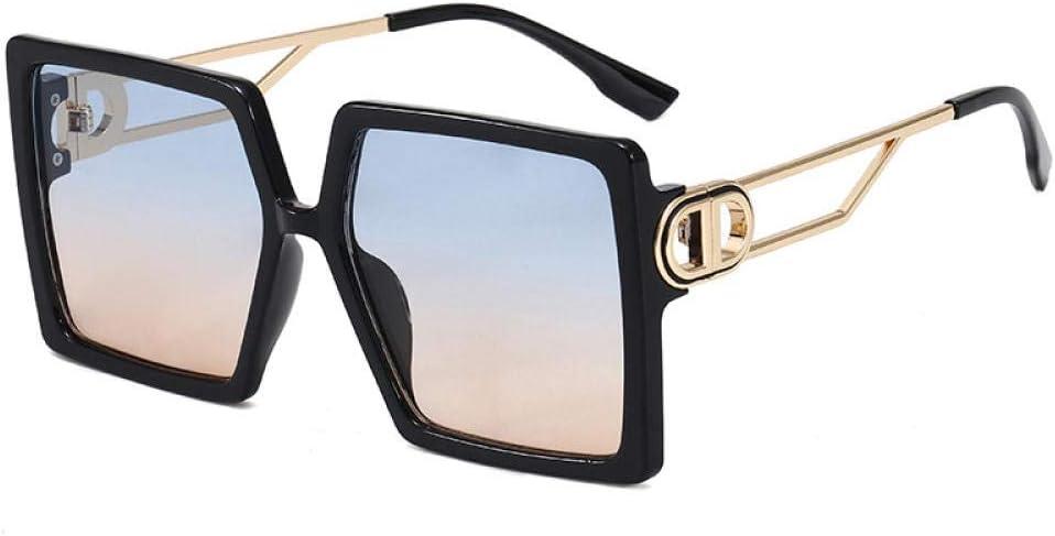 HPPSLT Gafas de Sol Polarizadas Deportes 100% Protección UV Sol para Conducción, Gafas de Sol cuadradas Europeas y Americanas Gafas de Sol de Montura Grande
