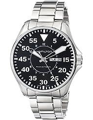 Hamilton Mens H64715135 Khaki King Pilot Black Day Date Dial Watch