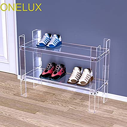 967cc3eab9b Image Unavailable. Image not available for. Color  ONELUX New Durable  Double Layer Acrylic Storage Shoe ...