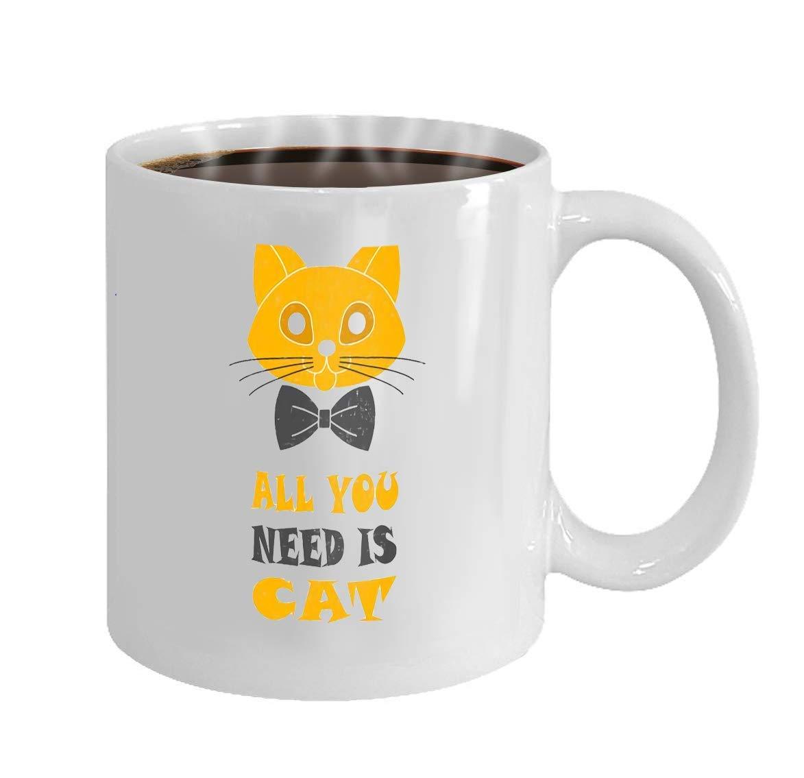 Wistty Taza de café Taza de Regalo Cara de Gato con Corbata y Cita ...