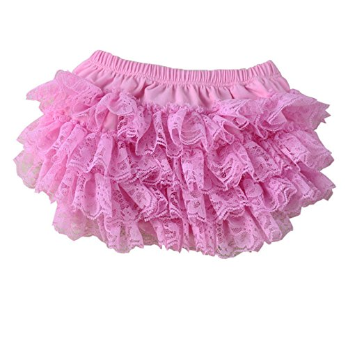VduanMo Infant Toddler Girl's Ruffled Lace Baby Diaper Bloomer Covers Medium (Lace Ruffled Bloomers)