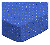 SheetWorld Fitted Portable/Mini Crib Sheet - Primary Colorful Pindots Purple Woven - Made In USA