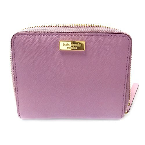 Kate Spade Darci Laurel Way Leather Zip Around Medium Wallet (Lilacpetal Purple-595)