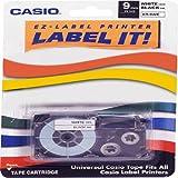 Casio XR9-WES 9mm Printer Tape for CWL-300 (Black-On-White)