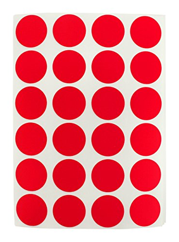 3-4-red-color-coding-dot-labels-on-sheets-permanent-adhesive-075-in-1008-round-stickers-per-pack