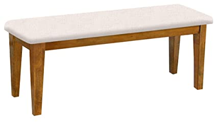 Oak Dining Bench Shaker Design With A Padded Seat Cushion Featuring Your  Choice Of A Colored
