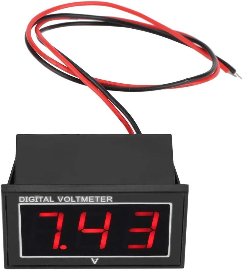 Medidor de voltaje 1pc Pantalla digital de 0.56 /″ Pantalla LED Volt/ímetro impermeable de alta precisi/ón Panel de medidor de voltaje de CC #2-rojo