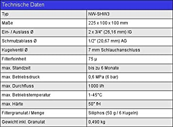 Naturewater 3/4Zoll - Filtro de flujo cruzado de 19mm 75µ NW-SHW3: Amazon.es: Bricolaje y herramientas