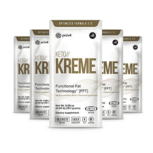 KETO//KREME 2.0 with Functional Fat Technology FFT, MCT Oils for Brain Boost, Reduce Joint Pain and Inflammation, Improve Digestive and Gut Health, Kickstart Natural Collagen Production, 20 Sachets by Pruvit