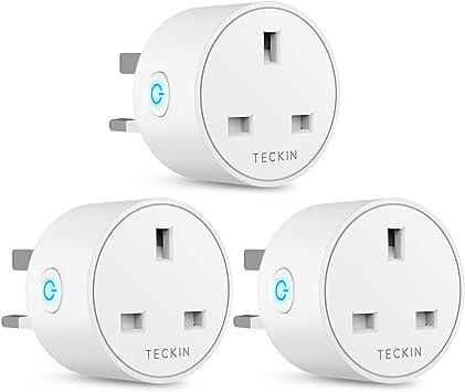 Wireless Socket Remote Control Timer Plug Switch 13A 3PACK New Model Smart Plug WiFi Plug Works with  Alexa Google Home