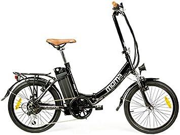 Moma Bikes Bicicleta Electrica, Plegable, Urbana EBIKE-20