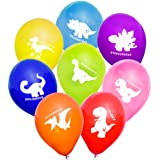"Uninflated 12"" Cheeky Dinosaurs Balloons Asstd 8 Pack"
