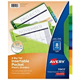 Kyпить Avery Big Tab Insertable Plastic Dividers with Pockets, 8 Multicolor Tabs, 1 Set (11903) на Amazon.com