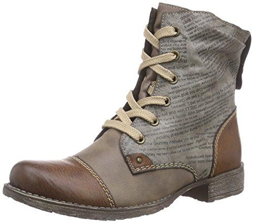 Rieker - botines de caño bajo de material sintético mujer marrón - Braun (brandy/fango/cigar / 24)