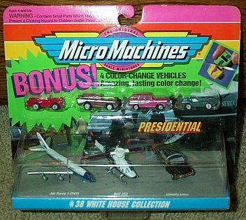 222 Scale Bell (Micro Machines White House Collection #38 plus 4 Bonus Color Change Vehicles)
