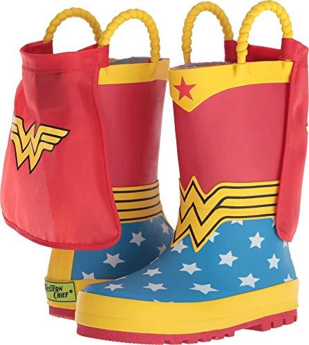 Western Chief Kids Girls Wonder Woman Rain Boot, red, 11 M US Little Kid]()