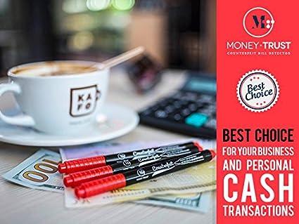 penna rivelatrice di banconote contraffatte per rilevare banconote false MoneyTrust Penna per rilevare i biglietti falsi confezione da 6 pz di penne