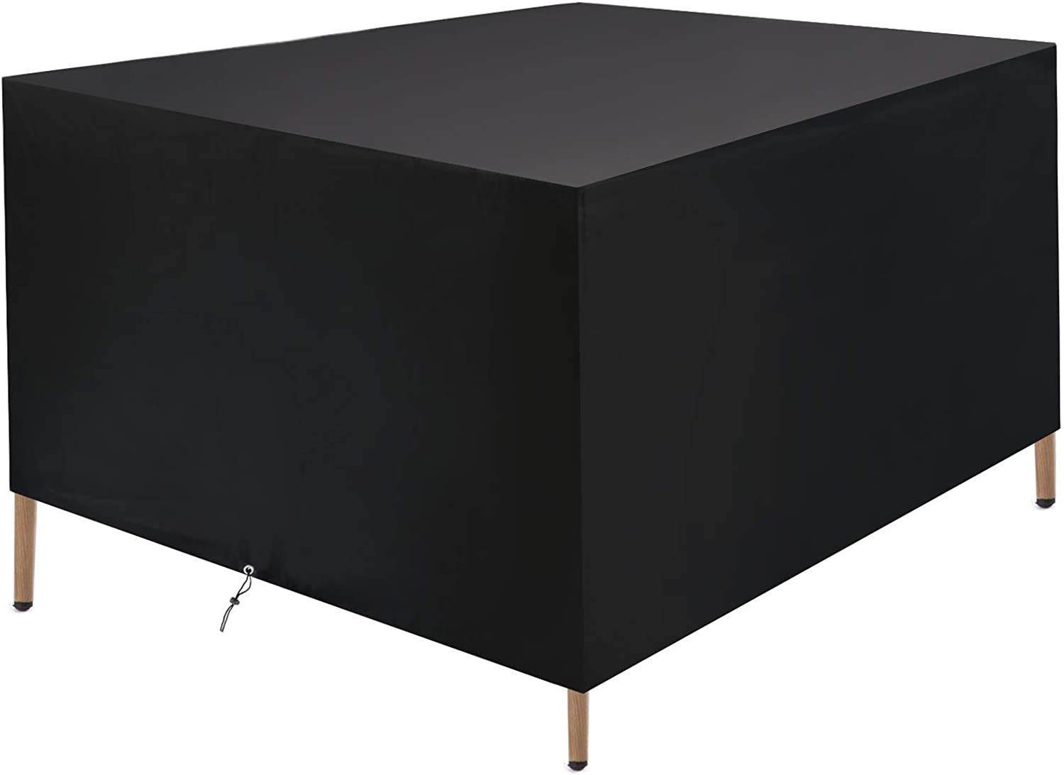 """Mancro Outdoor Patio Furniture Covers, 48""""x48""""x29"""" Extra Large Square Patio Table Covers, Waterproof, Windproof, Tear-Resistant and Anti-UV, Patio Covers for Outdoor Furniture, Black"""