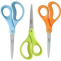 """LIVINGO 3 Pack 8"""" Office Craft Scissors, Straight Titanium Zirconium Coated Scissors, Professional Stainless Steel…"""
