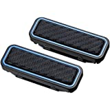 Seiko EE-104 Automotive Car Sedan Truck VAN SUV Blue Line Black Carbon Style Magnetic Safety Seat Belt Clip Stopper Adjuster 2pcs