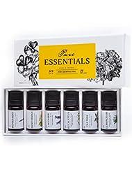 Essential oils by PURE ESSENTIALS 100% Pure Therapeutic Grade Oils kit- Top 6 Aromatherapy Oils Gift Set-6 Pack, 10ML(Eucalyptus, Lavender, Lemon grass, Orange, Peppermint, Tea Tree)