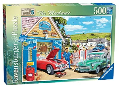 Ravensburger Happy Days at Work No.5 The Mechanic, 500pc Jigsaw Puzzle