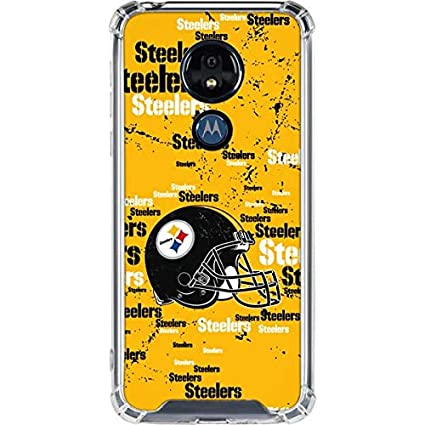 Skinit Pittsburgh Steelers - Blast Moto G7 Power Clear Case - Officially  Licensed NFL Phone Case Clear - Transparent Moto G7 Power Cover