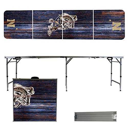 NCAA Naval Academy Midshipmen Weathered Version 8-Feet Folding Tailgate Table by Victory Tailgate