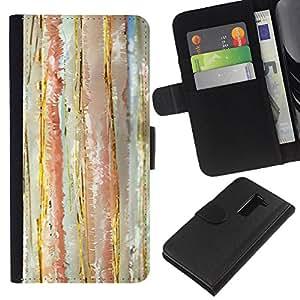 KingStore / Leather Etui en cuir / LG G2 D800 / Acuarela Pastel Líneas Tone Vertical