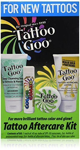 Tattoo Goo Aftercare Kit Includes Soap, New formula, Tattoo Goo, Lotion, Color Guard by Tattoo Goo