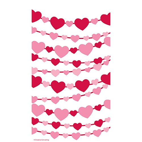 Creative Converting 12 Count Cello Zippered Treat Bag, Heart ()