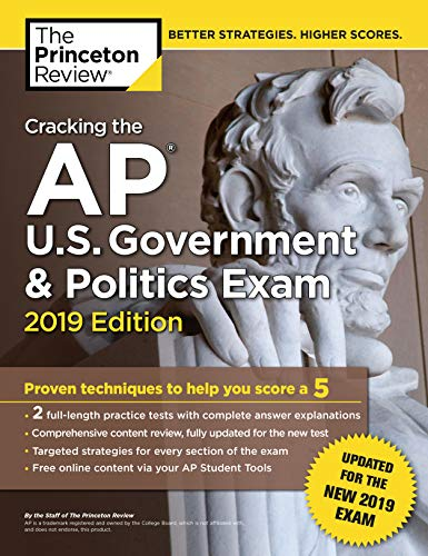 Pdf Teen Cracking the AP U.S. Government & Politics Exam, 2019 Edition: Revised for the New 2019 Exam (College Test Preparation)
