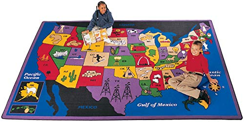 Geography Discover America Kids Rug Rug Size: 4'5