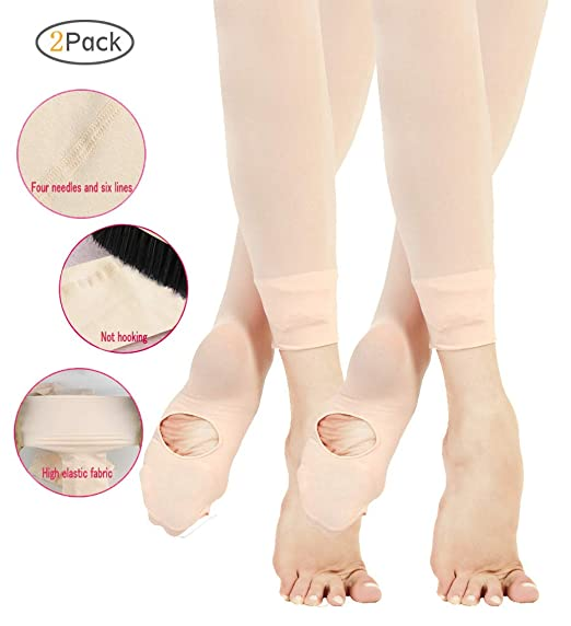 1a003f6691698 Fitdance Ballet Tights Ultra Soft Dance Transition Tights/Professional  Ballet Jumpsuit (Toddler/Little