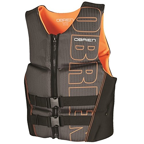 O'Brien Men's Flex V-Back Neoprene Life Vest, Orange, 3X-Lar
